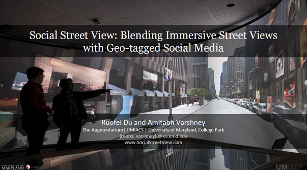 Social Street View: Blending Immersive Street Views With Geo-Tagged Social Media Teaser Image.