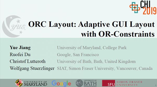 ORC Layout: Adaptive GUI Layout With OR-Constraints Teaser Image.